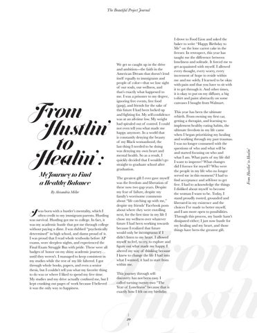 Page 29 of From Hustlin' to Healin': My Journey to Find a Healthy Balance by Alexandria Miller