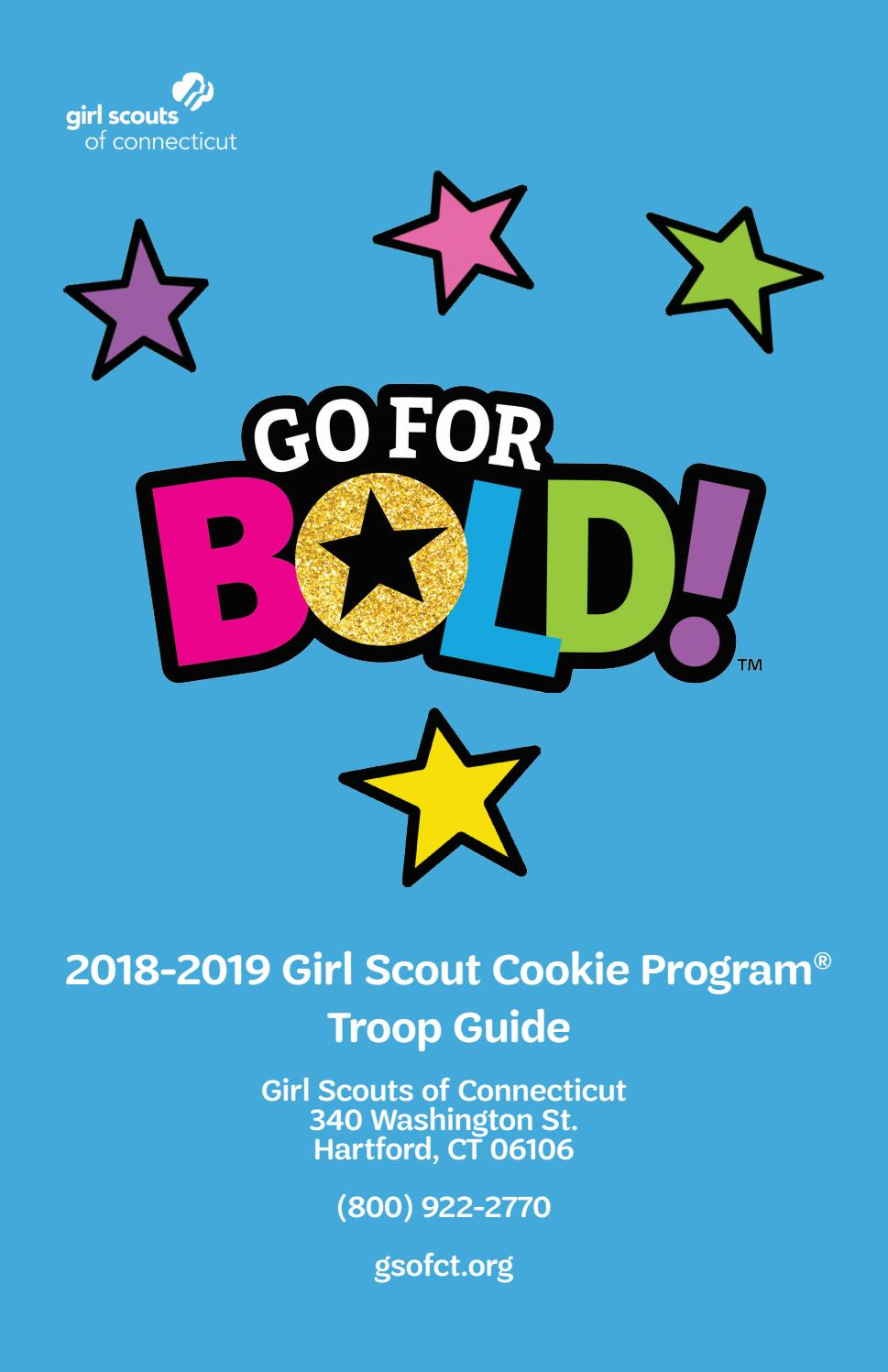 photo regarding Girl Scout Cookie Thank You Notes Printable identified as 2018-2019 Woman Scout Cookie Software Troop Specialist through Female