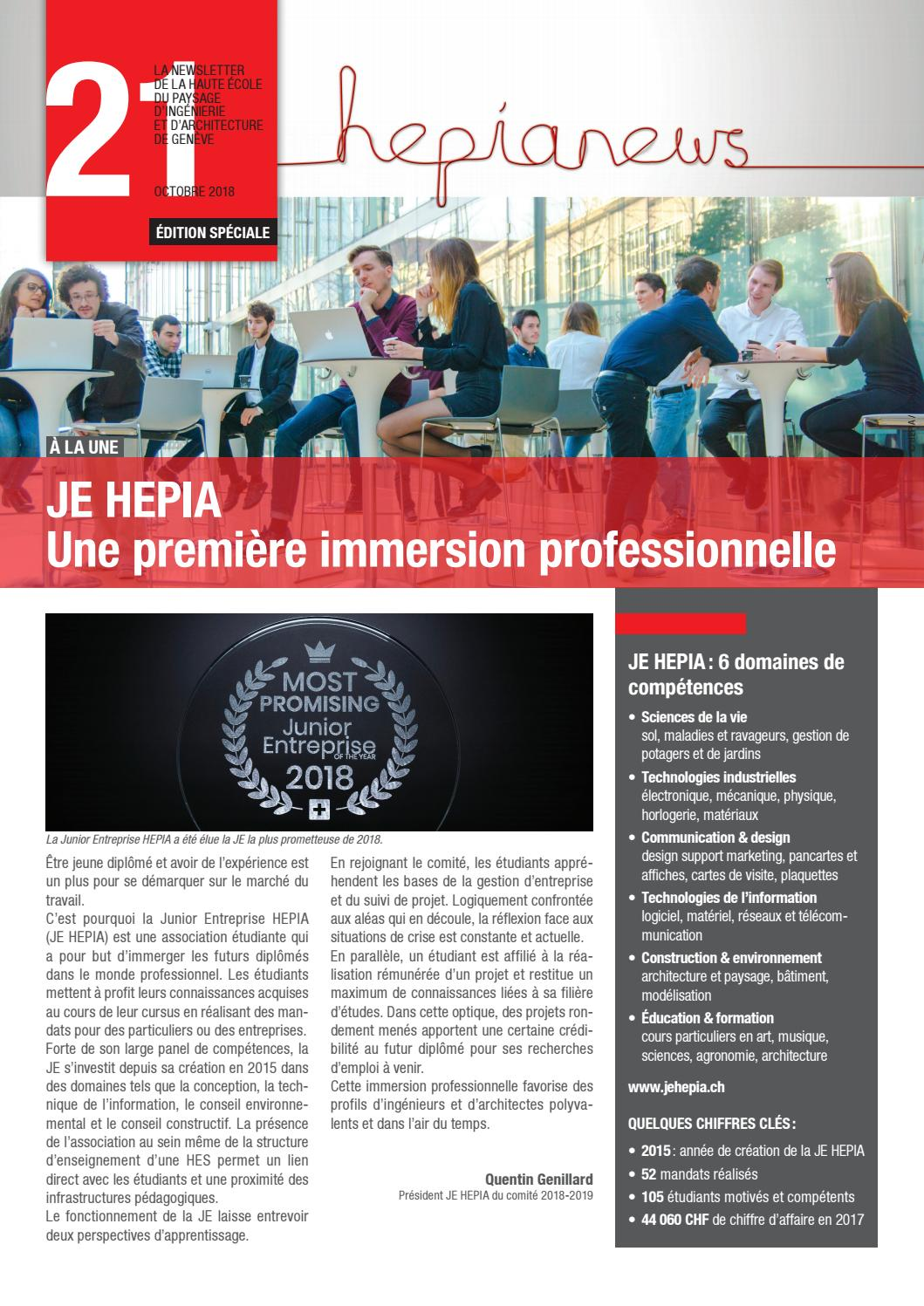 Hepianews N21 By HES SO Geneve