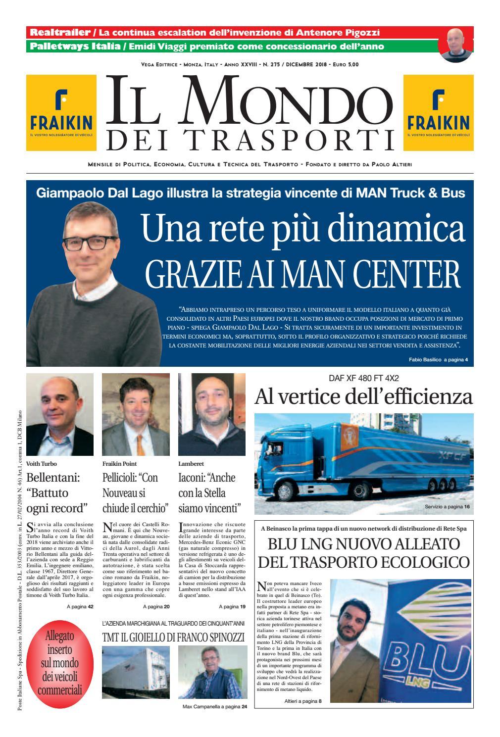 Il Mondo dei Trasporti - Dicembre 2018 by Vega Editrice - issuu 54e95f451f9