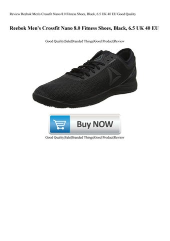 buy online 14da5 ea1d4 Review Reebok Men s Crossfit Nano 8.0 Fitness Shoes Black 6.5 UK 40 EU Good  Quality