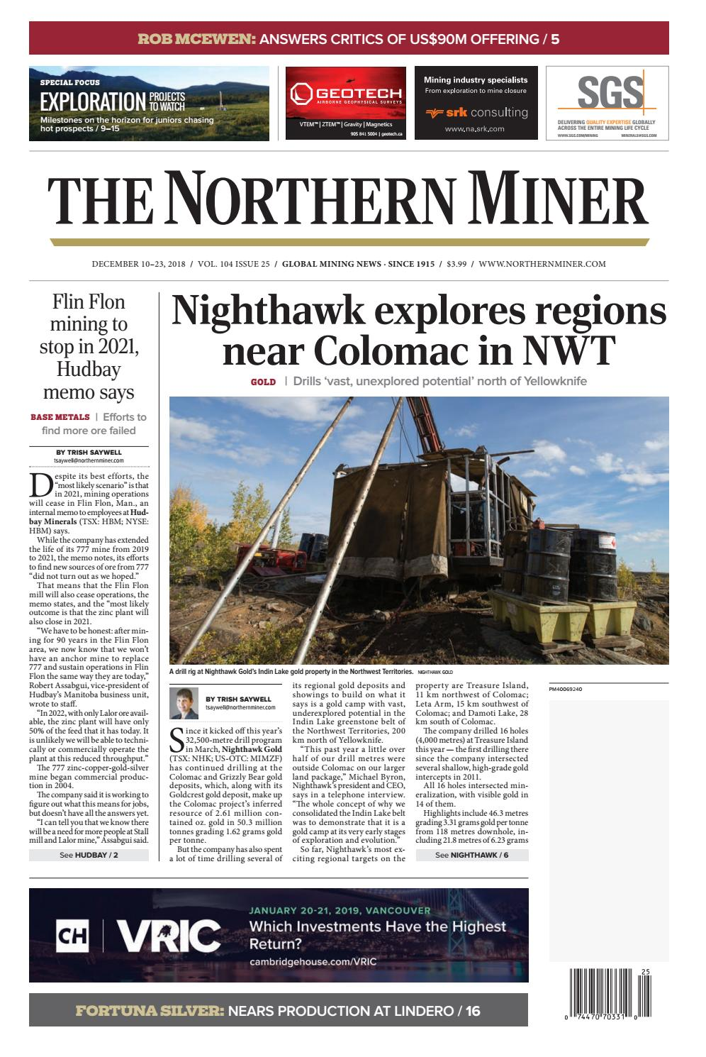 The Northern Miner December 10 2018 Issue by The Northern Miner