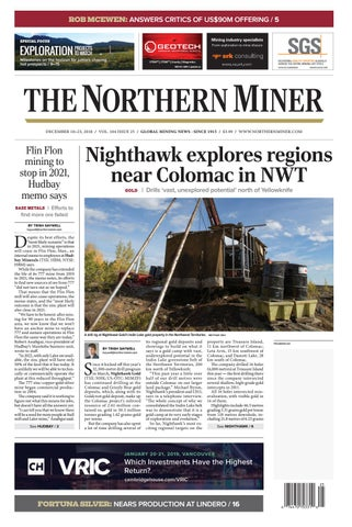 165 Niocorp Appoints Mr Mark A Smith  >> The Northern Miner December 10 2018 Issue By The Northern