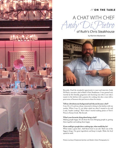 Page 14 of On The Table: A Chat with Chef Andy Di Pietro of Ruth's Chris Steakhouse