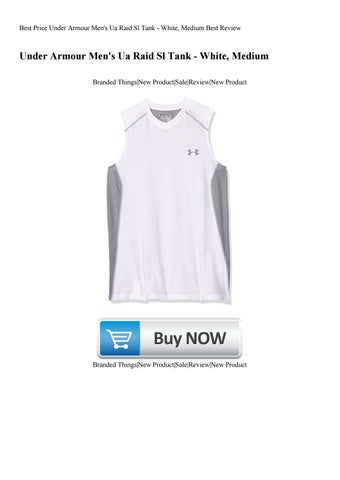 53c59e184 Best Price Under Armour Men's Ua Raid Sl Tank - White Medium Best Review