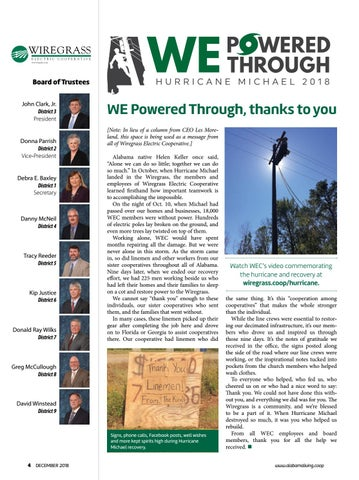Page 3 of WE Powered Through, Thanks To You