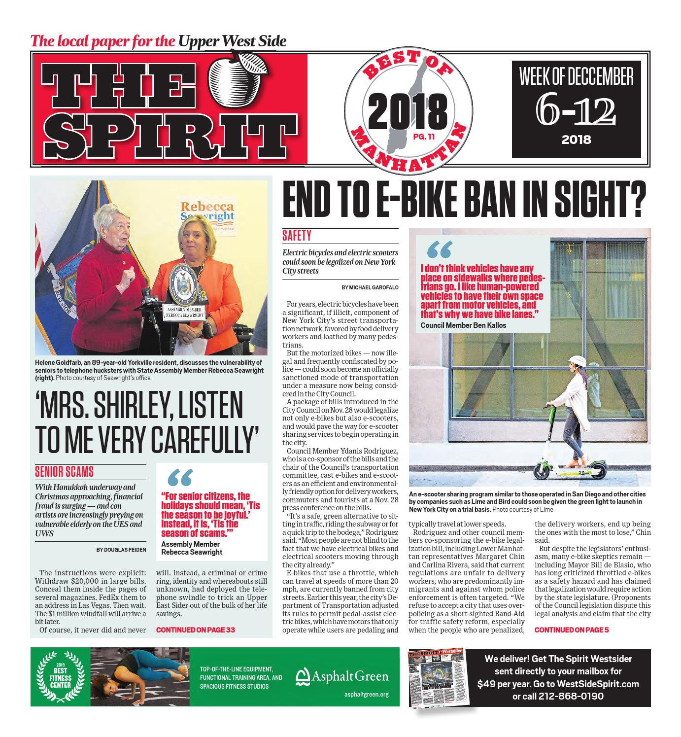 West Side Spirit December 6 2018 by West Side Spirit issuu