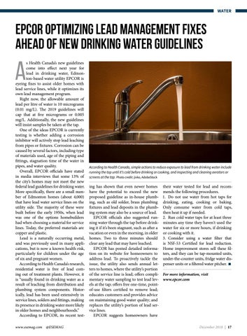 Page 17 of EPCOR optimizing lead management fixes ahead of new drinking water guidelines
