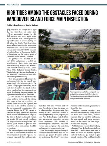 Page 18 of High tides among the obstacles faced during Vancouver Island force main inspection