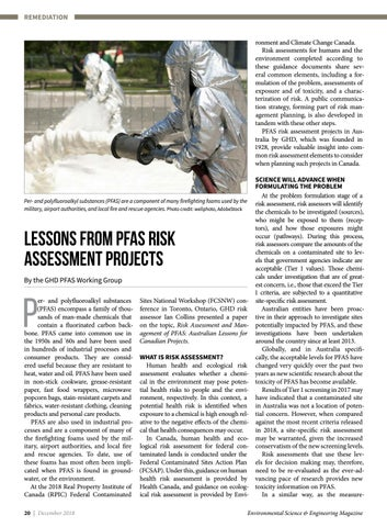 Page 20 of Lessons from PFAS Risk Assessment Projects