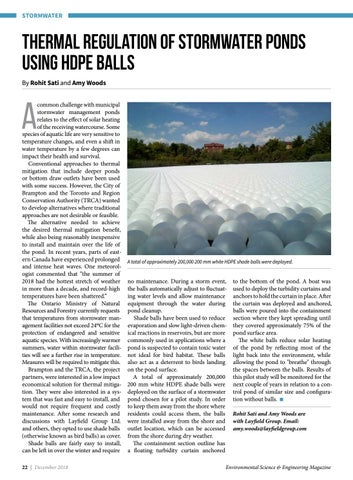 Page 22 of Thermal regulation of stormwater ponds using HDPE balls