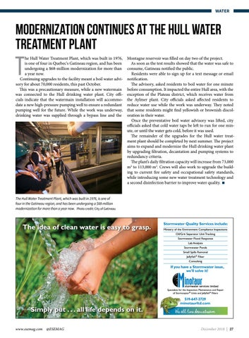 Page 27 of Modernization continues at the Hull water treatment plant