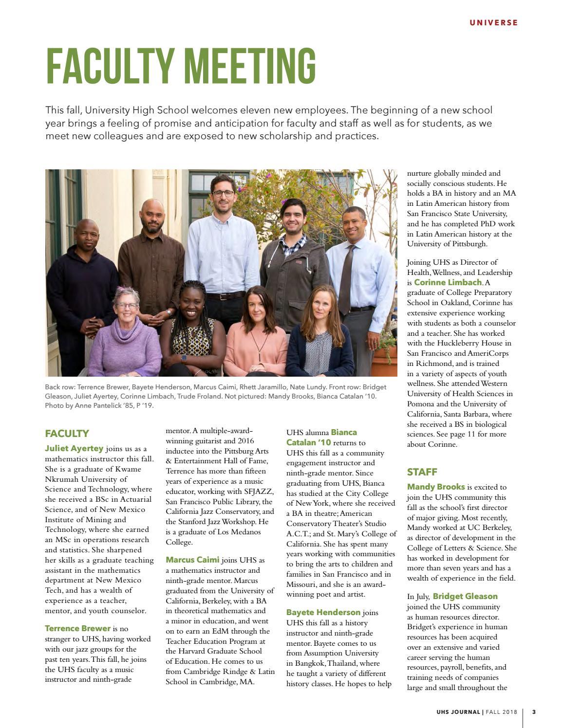 UHS Journal - Fall 2018 by SFUHSorg - issuu