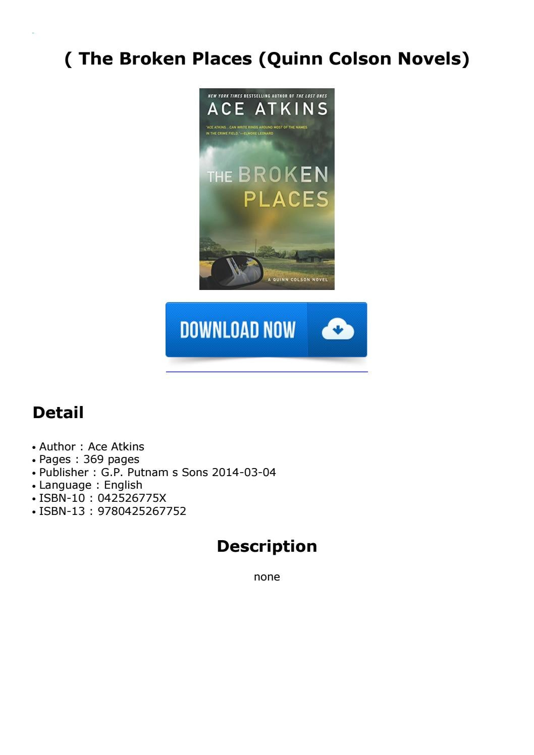 ( The Broken Places (Quinn Colson Novels) by Njerinewguy - issuu