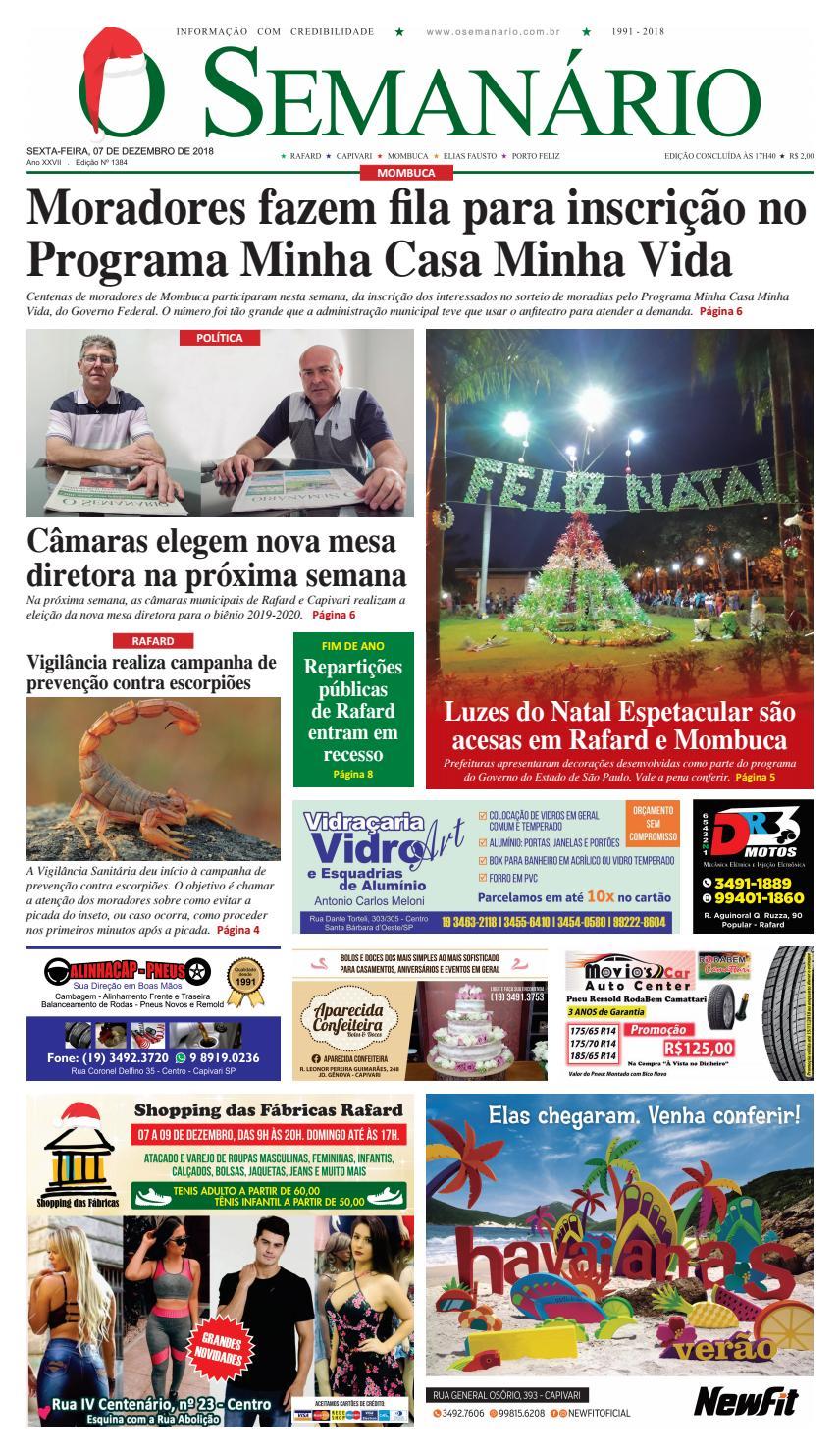 c1fc09fe3 Jornal O Semanário Regional - Edição 1384 - 07/12/2018 by Jornal O  Semanário - issuu