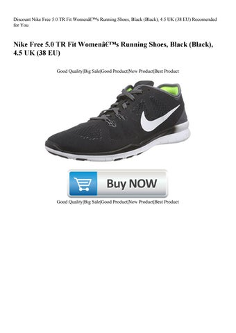 low priced 90cb1 5a937 Discount Nike Free 5.0 TR Fit Women's Running Shoes Black (Black) 4.5 UK  (38 EU) Recomended for