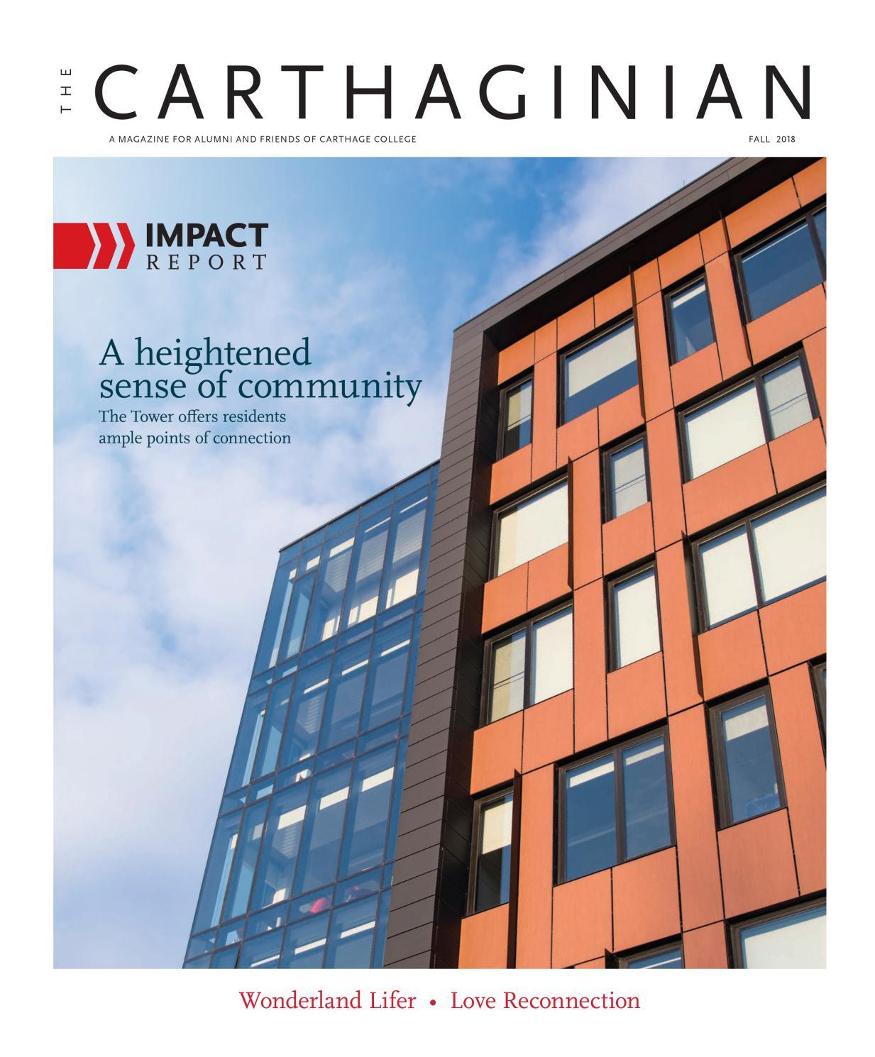 Fall 2018 Carthaginian by Carthage College - issuu