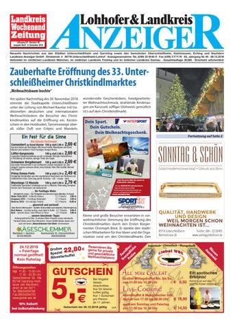 Lohhofer Landkreis Anzeiger 4918 By Zimmermann Gmbh Druck Verlag