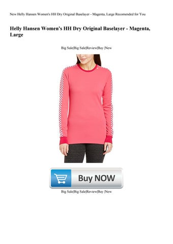 New Helly Hansen Women s HH Dry Original Baselayer - Magenta Large  Recomended for You 72a5764f6