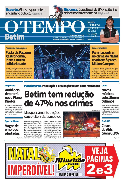 2b21976a4 O Tempo Betim - 07 a 13 de dezembro de 2018 by Tecnologia Sempre Editora -  issuu