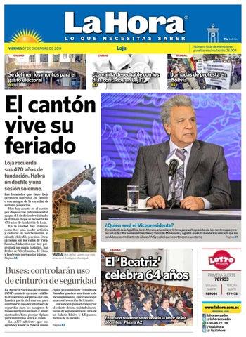 Diario La Hora Loja 07 de Diciembre 2018 by Diario La Hora Ecuador ... 110313989453