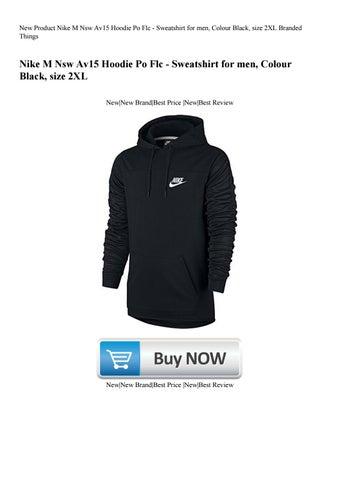 7d5d46ab New Product Nike M Nsw Av15 Hoodie Po Flc - Sweatshirt for men Colour Black  size 2XL Branded Thing