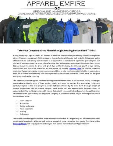 garment manufacturer apparel empire pte ltd