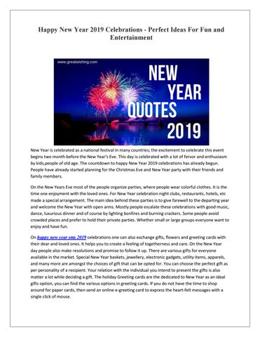 happy new year 2019 celebrations perfect ideas for fun and entertainment