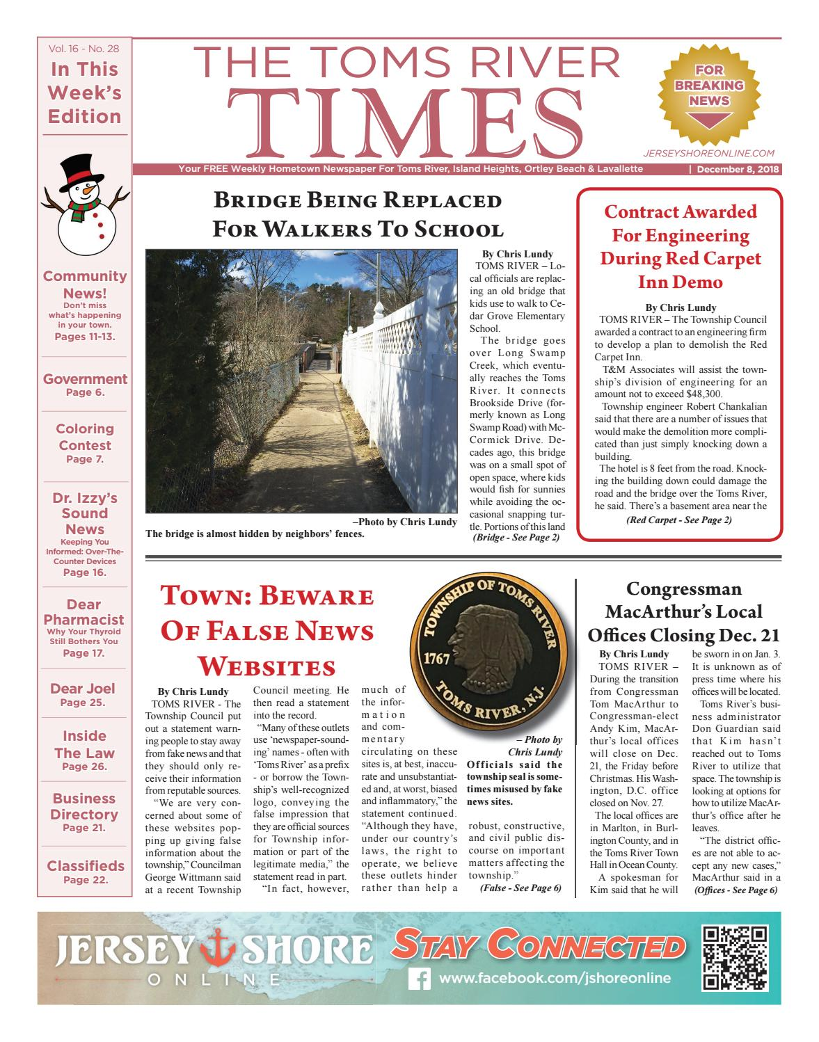 2018-12-08 - The Toms River Times by Micromedia Publications