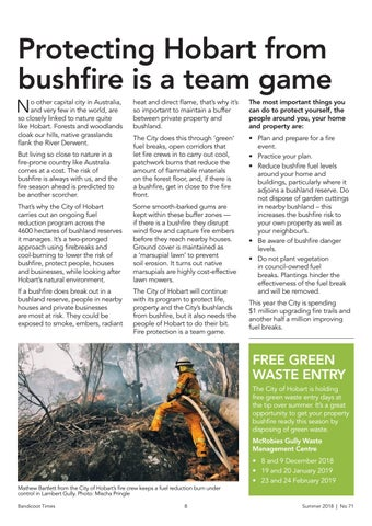 Page 8 of Protecting Hobart from bushfire is a team game