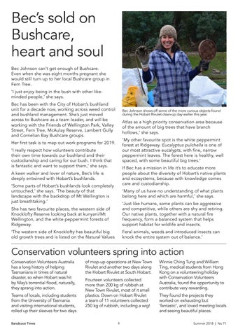 Page 9 of Bec's sold on Bushcare, heart and soul