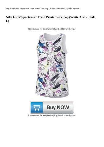 61f1c7e85 Buy Nike Girls  Sportswear Fresh Prints Tank Top (WhiteArctic Pink L) Best  Review