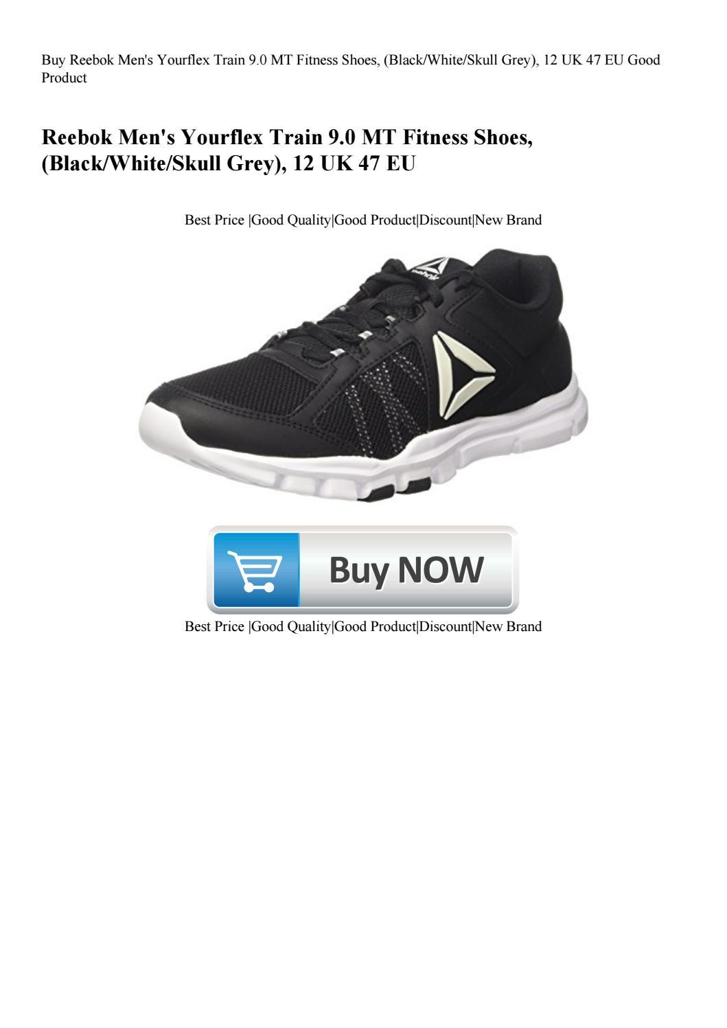 Reebok Yourflex Train 9.0 MT Black//White//Skull Grey Men/'s Shoes