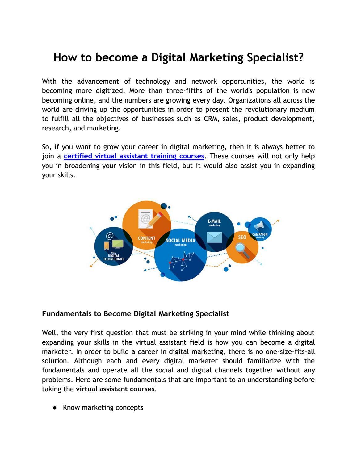 How To Become A Digital Marketing Specialist By Virtualgurusa Cademy Issuu