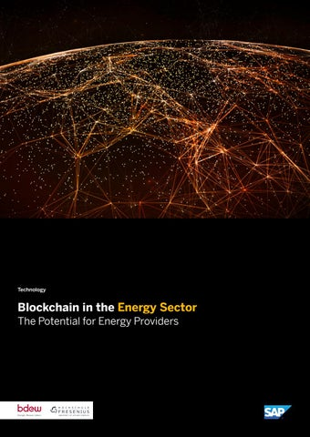 Blockchain in the Energy Sector - The Potential for Energy Providers