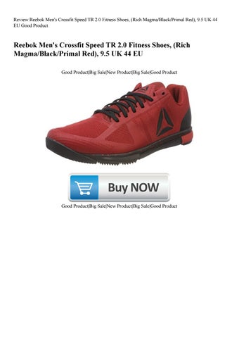 new concept 390ec 536df Review Reebok Men s Crossfit Speed TR 2.0 Fitness Shoes (Rich  MagmaBlackPrimal Red) 9.5 UK 44 EU G
