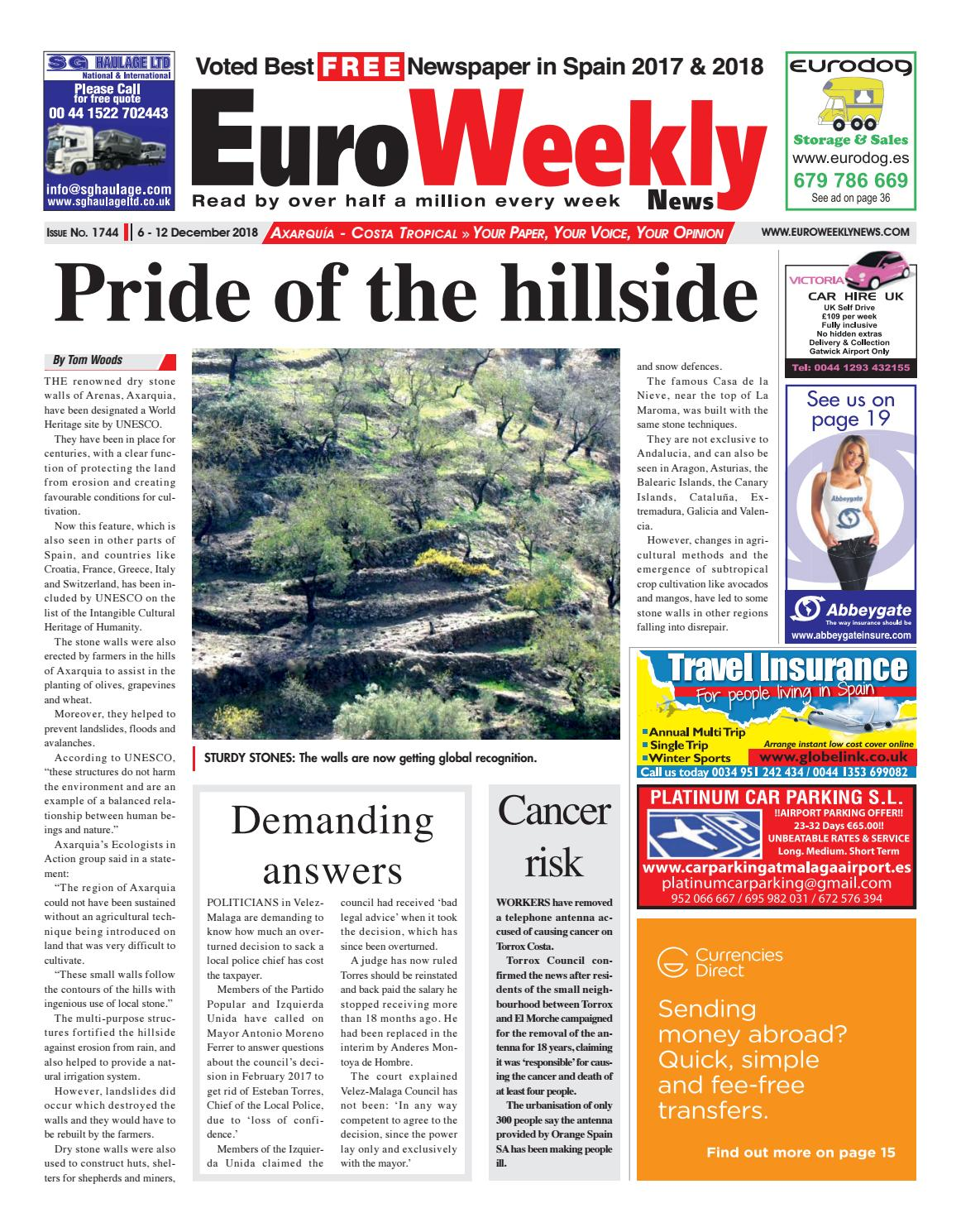 Euro Weekly News - Axarquia 6-12 December 2018 Issue 1744 by