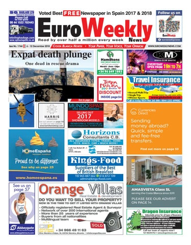 superior quality c7d43 0d313 Euro Weekly News - Costa Blanca North 6-12 December 2018 Issue 1744 ...