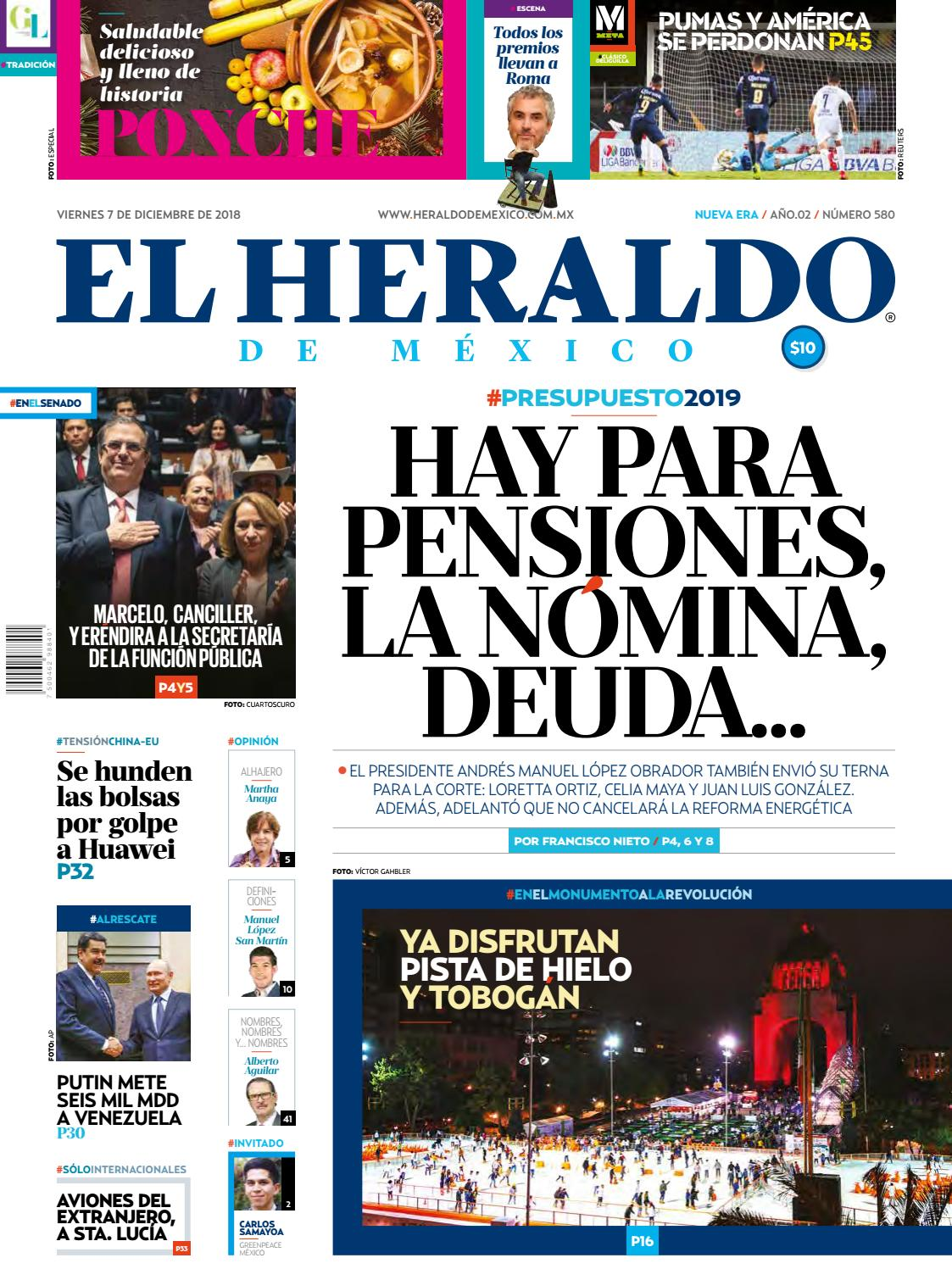 73a2c26d54ab3 7 de diciembre de 2018 by El Heraldo de México - issuu