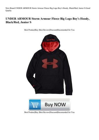 210f1994c New Brand UNDER ARMOUR Storm Armour Fleece Big Logo Boy's Hoody, Black/Red,  Junior S Good Quality