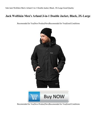 1c73ba92aaa Sale Jack Wolfskin Men's Arland 3-in-1 Double Jacket, Black, 3X-Large Good  Quality