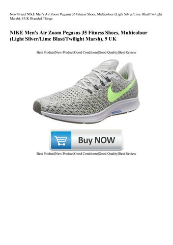 ee66ad83c0146 New Brand NIKE Men s Air Zoom Pegasus 35 Fitness Shoes Multicolour (Light  SilverLime BlastTwilight