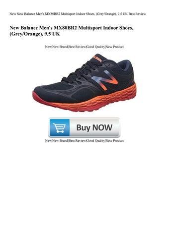 a70f2b3caa034 New New Balance Men's MX80BR2 Multisport Indoor Shoes, (Grey/Orange), 9.5  UK Best Review