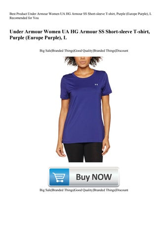 dc6a11e2ce Best Product Under Armour Women UA HG Armour SS Short-sleeve T-shirt Purple  (Europe Purple) L Reco