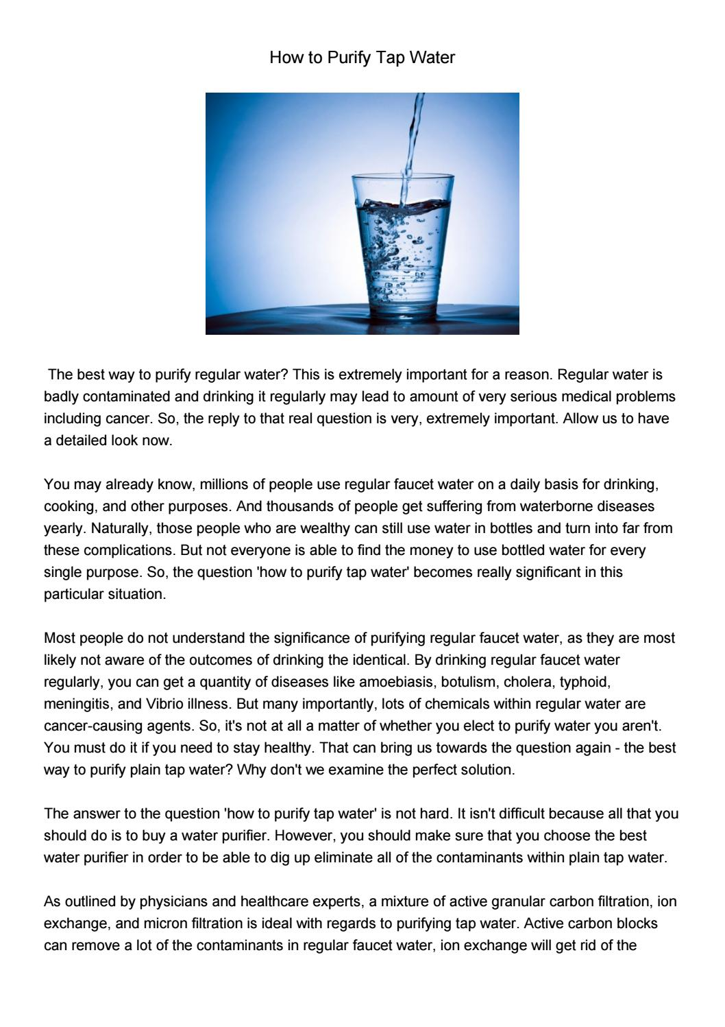 Howtopurifytapwater492 By Teresabaldwin Issuu