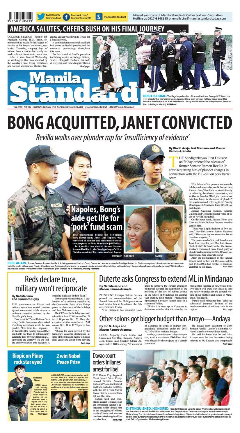 68cb3b6d04 Manila Standard - 2018 December 8 - Saturday by Manila Standard - issuu