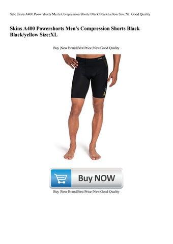 e51584613f Sale Skins A400 Powershorts Men's Compression Shorts Black Blackyellow SizeXL  Good Quality