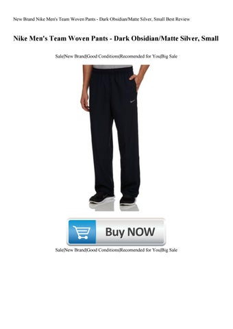 003d1c9b9 New Brand Nike Men s Team Woven Pants - Dark ObsidianMatte Silver Small  Best Review. by heros34886