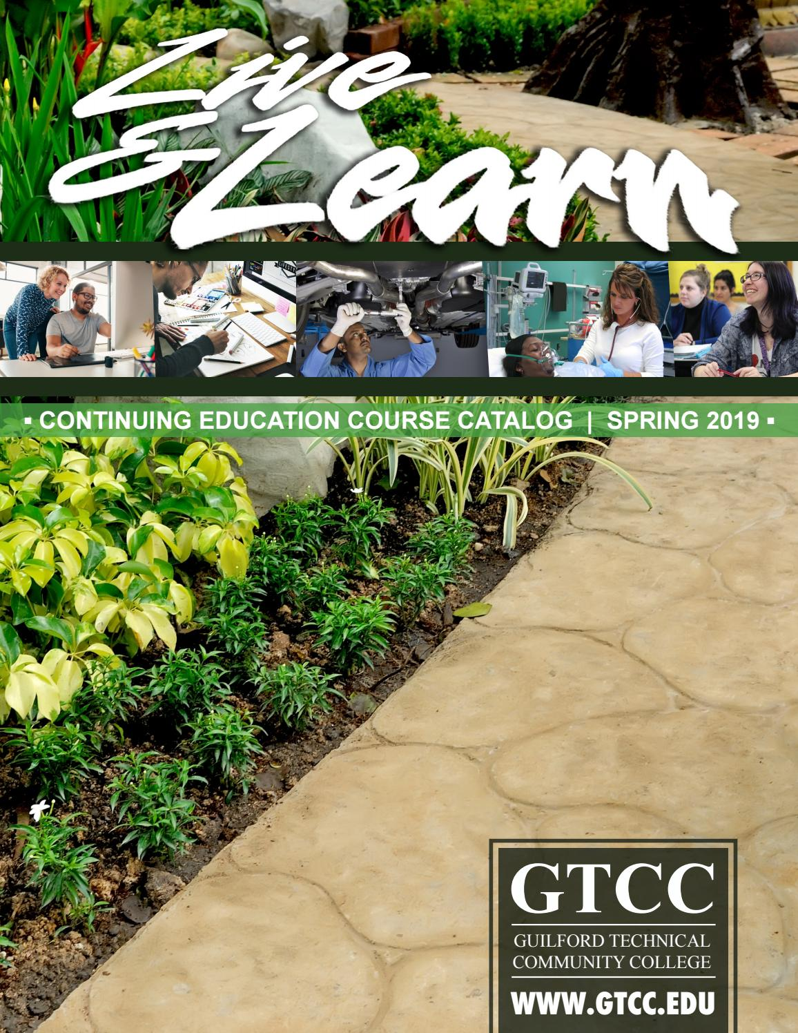 Spring 2019 Live And Learn Catalog By Guilford Technical Community College Issuu