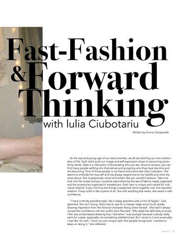 Page 41 of Fast-Fashion & Forward Thinking with lulia Ciubotariu